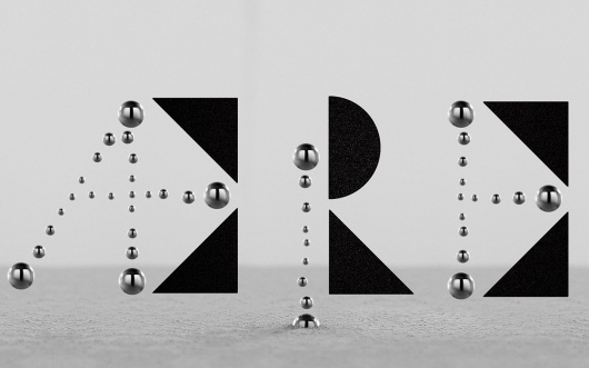 XLVIII — MEDIUM: EXTRA LARGE #typography #geometric #black #chrome #materials #non #format #re