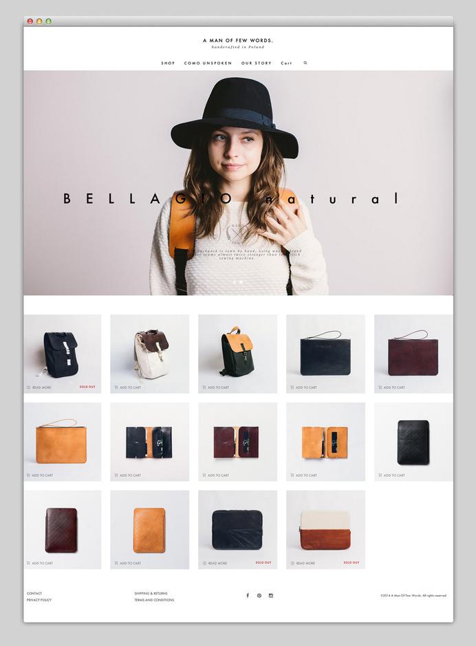 Websites We Love — Showcasing The Best in Web Design #agency #design #accessoires #sleeve #best #website #ui #minimal #webdesign #leather #web #typography