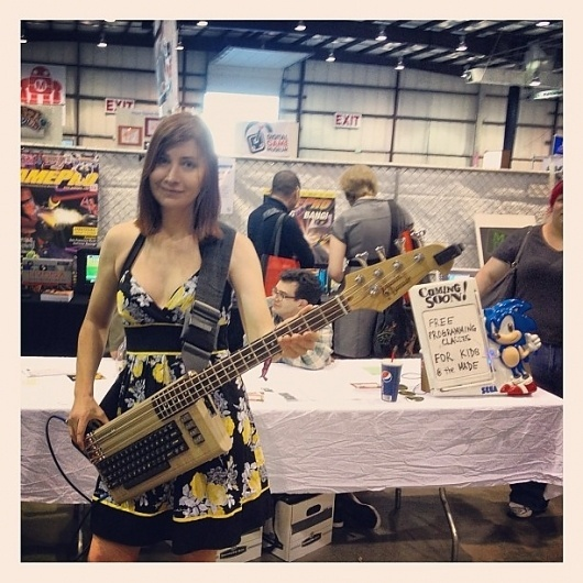 Commodore 64 Bass Guitar by Jeri Ellsworth #guitar #c64