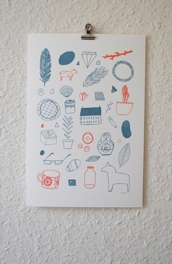Gocco Prints - About Today - Illustration by Lizzy Stewart #print #illustration