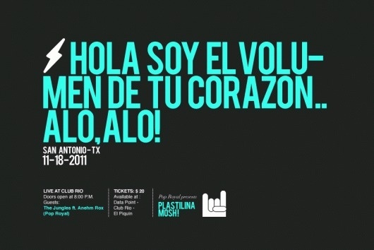 DECIMAL | Creative Studio #rock #flyer #san #antonio #gif #music #mosh #plastilina