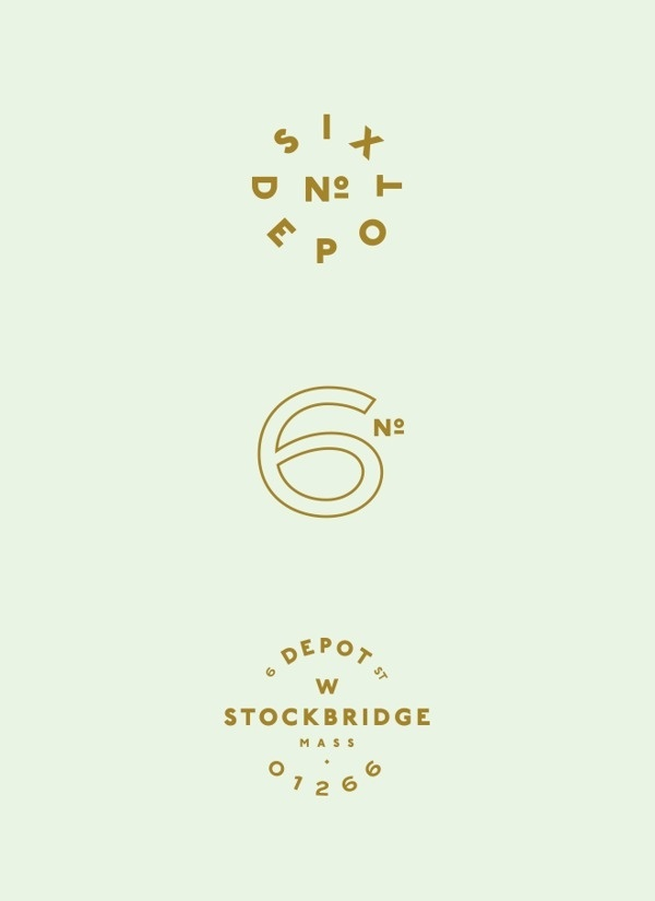 No. Six Depot on Behance #logoform #lettering #branding