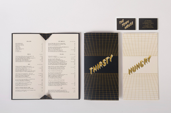 The Town Mouse Projects A Friend Of Mine #print #menu #black #brand #system #gold #and