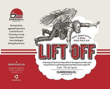 Daredevil Brewing Label #packaging #beer #label