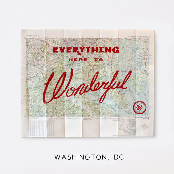Wonderful Silk Screened Maps #type #map #typography