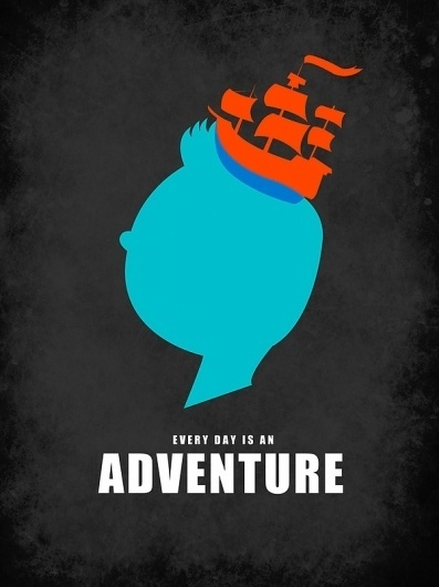 Every Day Is An Adventure Art Print by Calvin Wu | Society6 #movie #vector #tintin #print #illustration