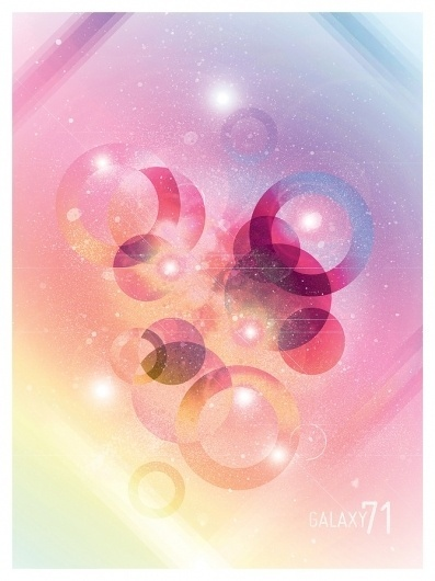 Solo 71 | The art of Dave Behm #vector #galaxy #design #graphic #circles #space #stars #poster #art