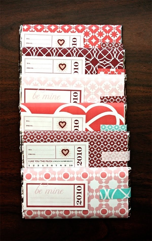 Making Valentines #pattern #packaging #label #chocolate #wrapping