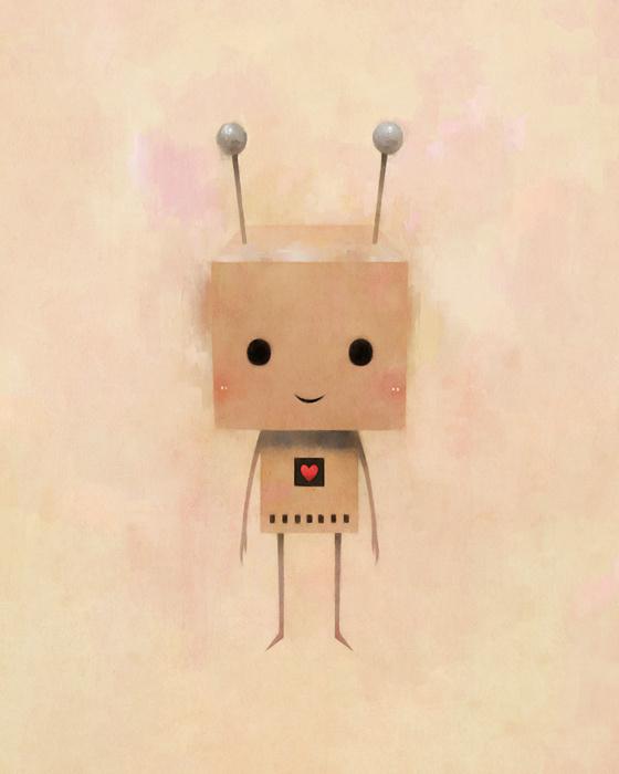 Heart on Behance #robot
