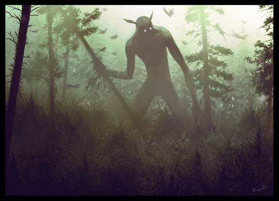 Forest God - Randis #fantasy #giant #illustration #god #monster #forest #creature