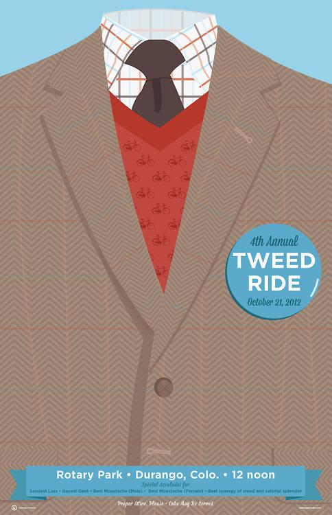 2012 Durango Tweed Ride #creative #vector #cabbage #poster #tweed