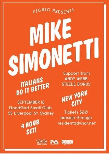 Disco Delicious: Mike Sleepinetti #disco #type #flyer #balloon