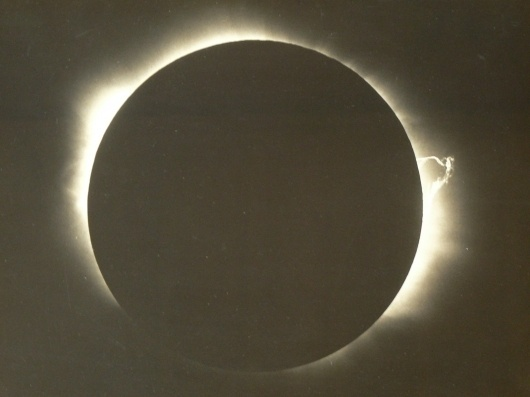 All sizes | Original photograph of total eclipse from expedition of John Jackson, astronomer,in 1929 | Flickr - Photo Sharing! #eclipse #astronomy #photograph #vintage #circle