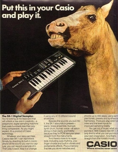 GIOR KONDUCTA - bloodrobots: noisenik: SK-1 LOVE #synth #casio #advertising #vintage #weird