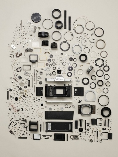 Piccsy :: Image Bookmarking :: Disassembled Pentax Spotmatic F #camera #pentax