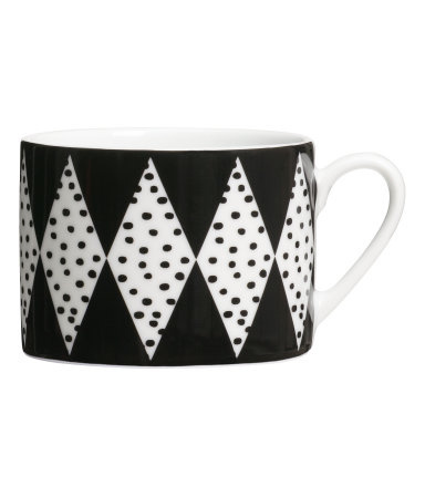 Printed Porcelain Cup, H&M Home