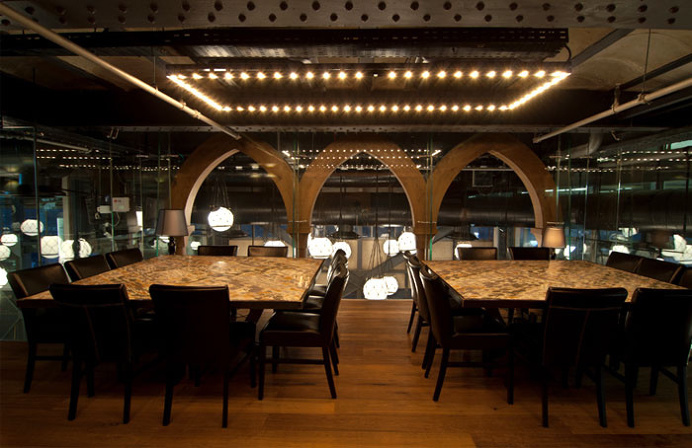Seafood Restaurant with Elements of Arab Architecture - #restaurant, restaurant, #decor, #interior, decor, interior design