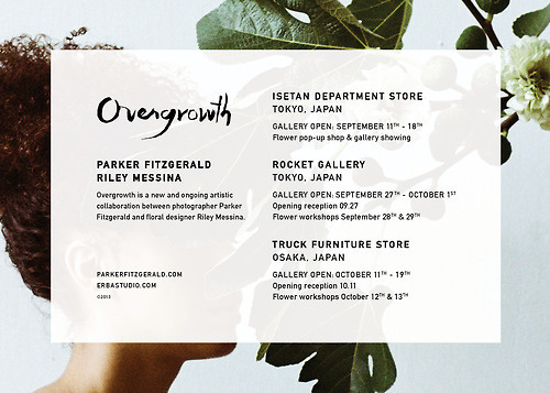 Overgrowth #design #floral #photography #typeography #type #din