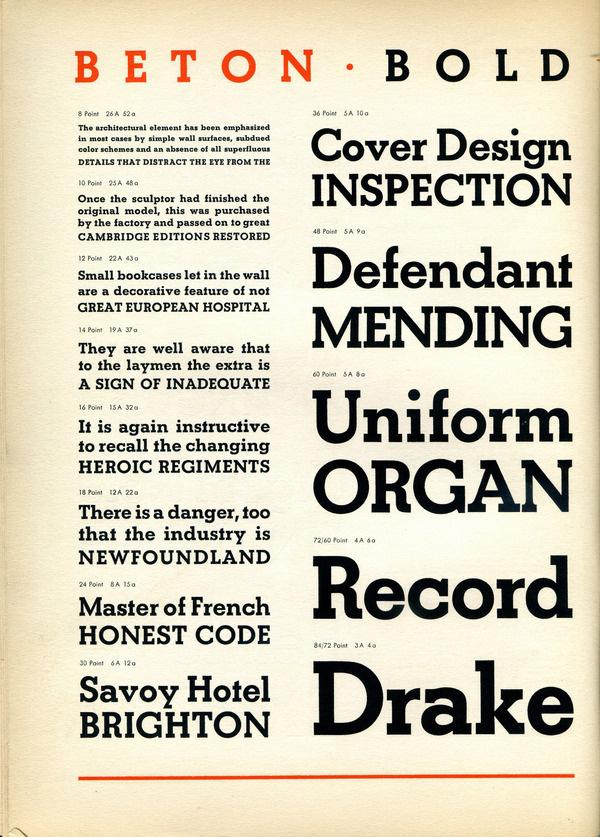 Beton Bold type specimen #type #specimen