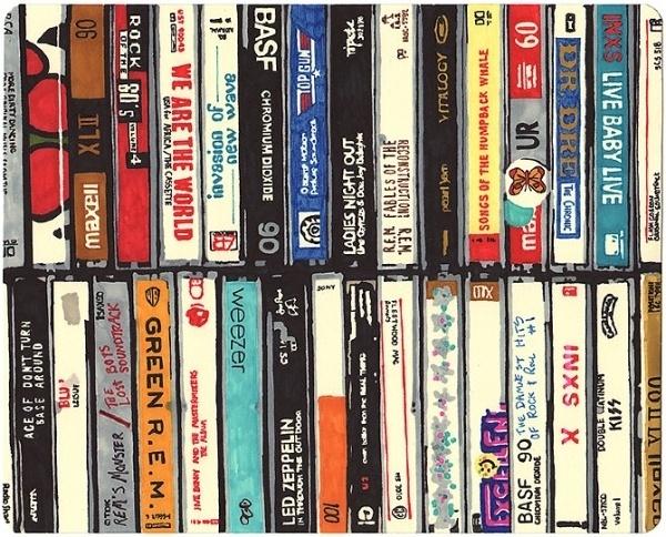 VHS - F C H i C H K 'L #thornton #illustration #brown #hollis #vhs #painting
