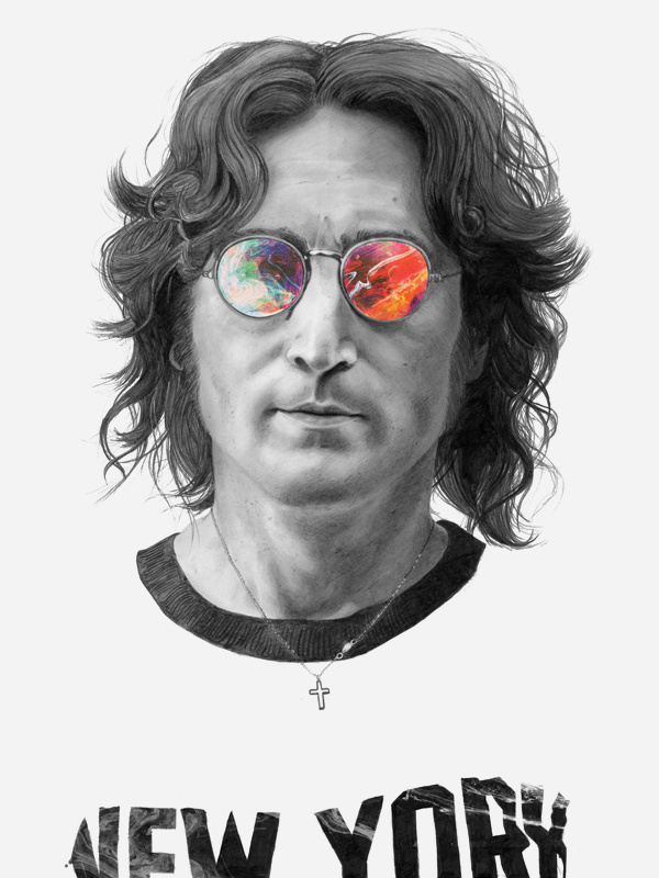 Illustrations 2012 on Behance #beatles #lennon #illustration #john #york #new