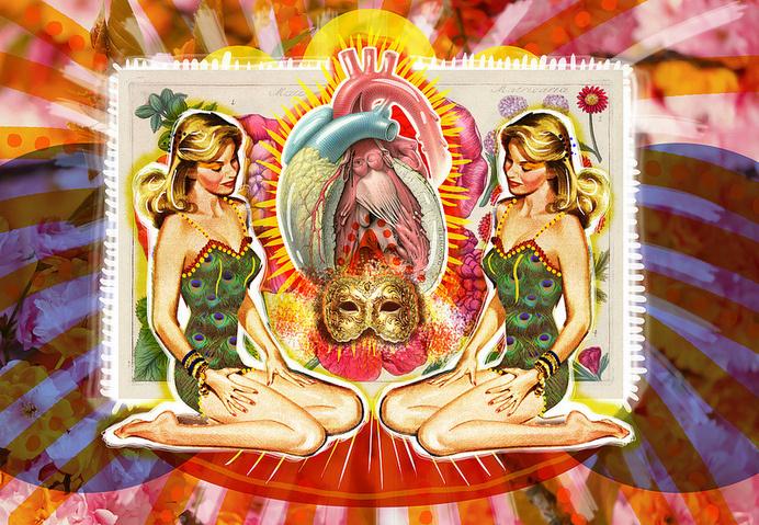 Lo Quiero   Peperina Magenta #creative #arte #amor #woman #color #pinup #digital #ilustraciã³n #vintage #ilustration #art #collage #colour #love #work
