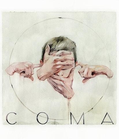 FFFFOUND! | Че за безумие #blind #album #deaf #cover #illustration #coma #surreal #watercolor