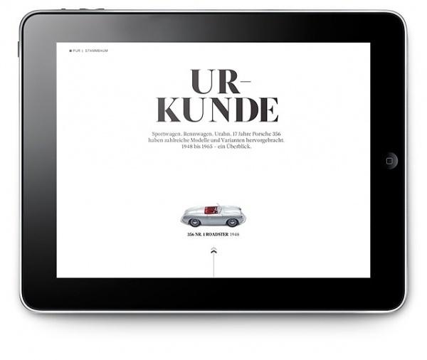 Porsche Christophorus 356 iPad - Kusk #ipad #design #web