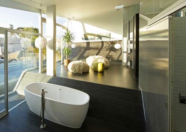 Create a desired bathroom atmosphere #interior #design #bathroom #bathtub #decoration