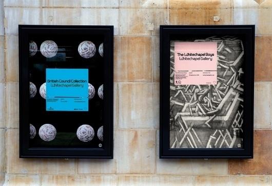 Spin — Whitechapel Gallery #print #design #graphic #spin #identity #minimal #logo #typography