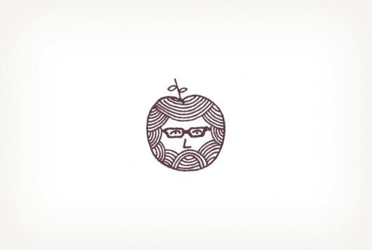 Pencil + Paper :: Art Direction & Design :: Justin Fuller #mark #logo #illustration #apple