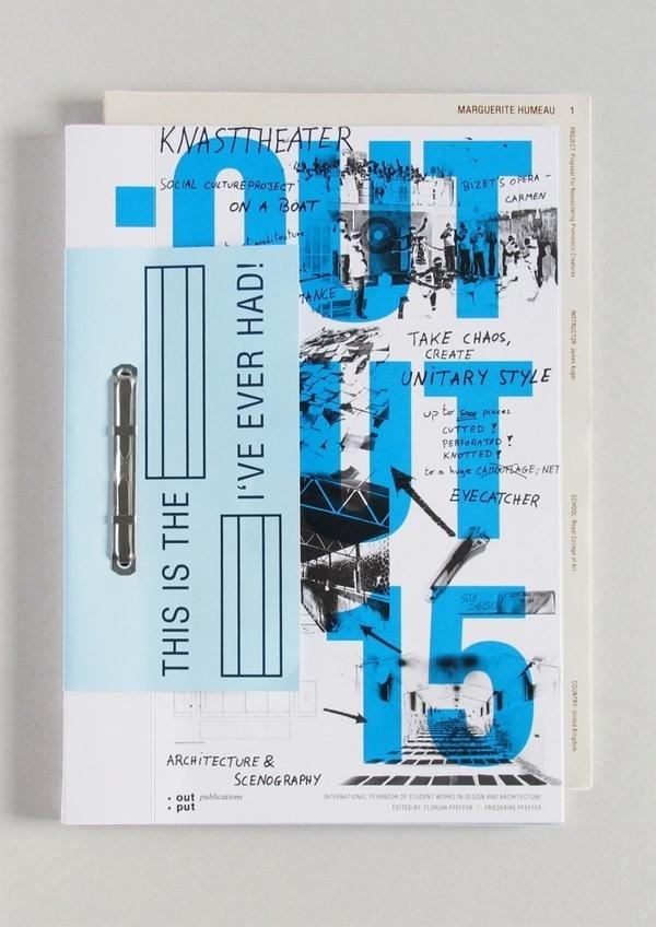 Output 15 catalogue #serif #sans #graphic #design #catalogue #block #cover #blue #typography