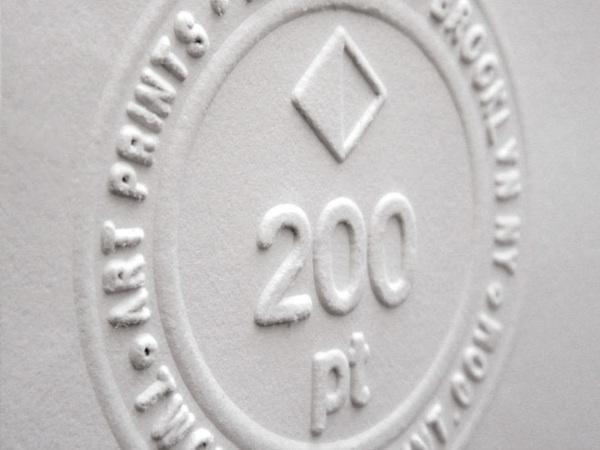 Brand Development—200pt Art Prints #emboss