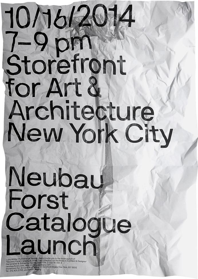 Neubau / NBF NYC, Storefront for Art & Architecture