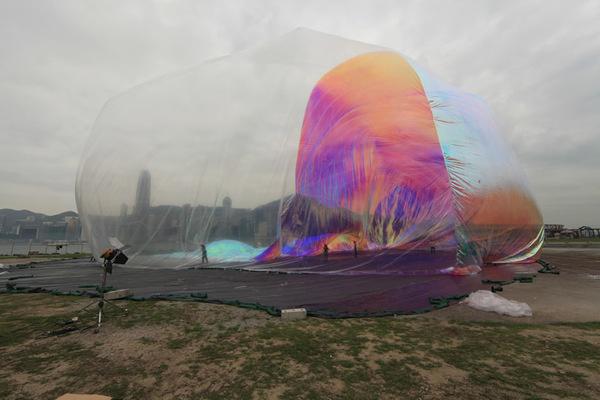 CJWHO ™ (Artists blow hot air at temporary Hong Kong...) #sculpture #kong #installation #crafts #design #photography #art #hong