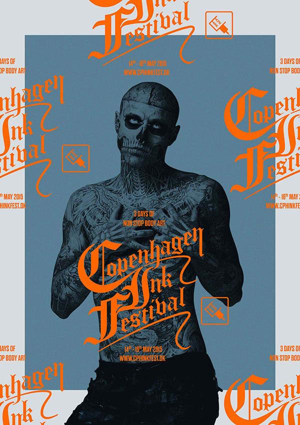 Behance :: Copenhagen Ink Festival #poster #tattoo #festival