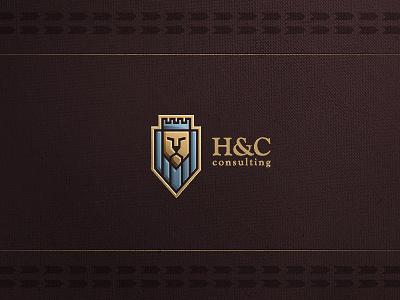 H and C logo design #logo #lion