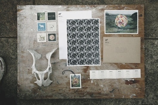 James Nunn #deer #stationary #james #nunn #identity #sue #typography