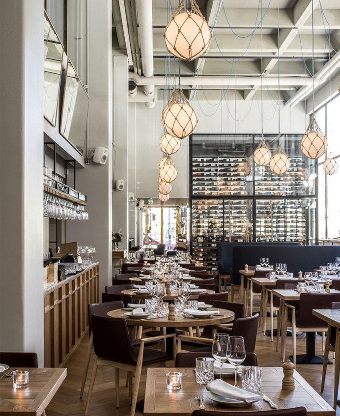 Bronda Restaurant Decor Inspired by Scandinavian Sea Coast #interior #design #restaurant