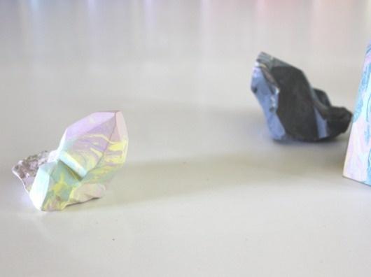 Leah Jackson — Gather & Fold #sculpture #crystal #jackson #paint #leah #art #ceramic #rainbow