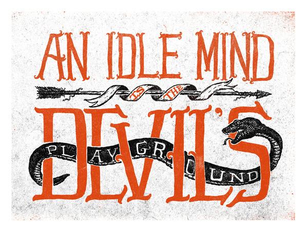 The_devil's_playground_full #type #illustration #poster #yoder #nathan