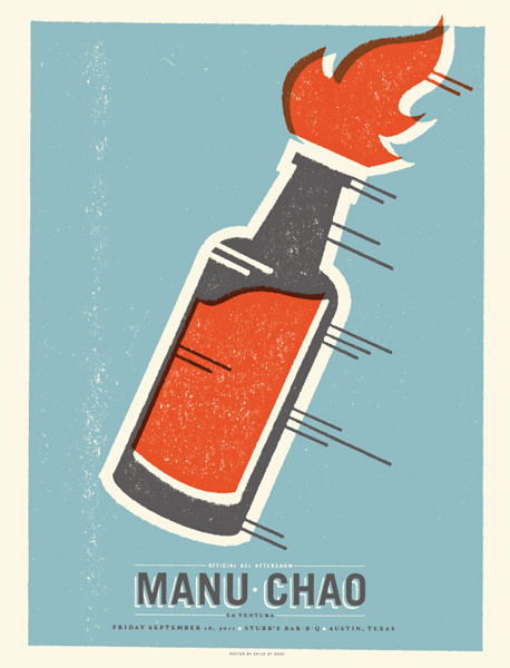 GigPosters.com - Manu Chao #screen #print #gigposter