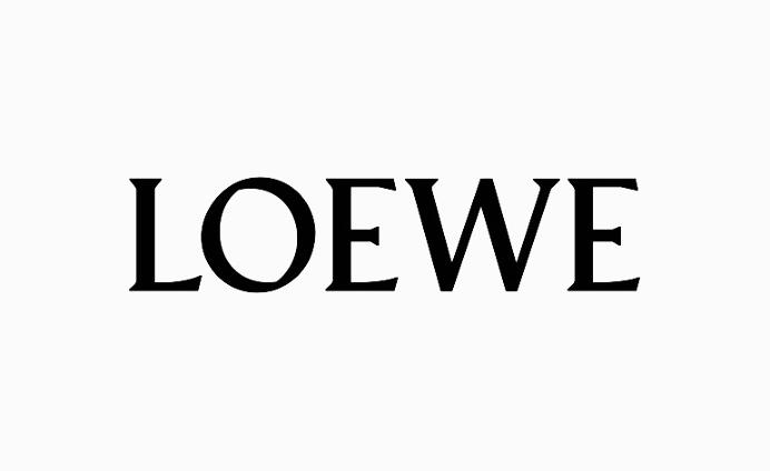 Loewe Branding #logo #branding #black #white #custom