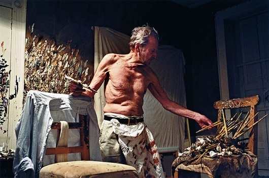 Lucian Freud - a life in pictures   Art and design   guardian.co.uk #freud #photograph #painter #lucien #studio