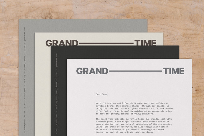 Grand Time — Athletics — A cross-disciplinary creative agency based in New York City #stationery