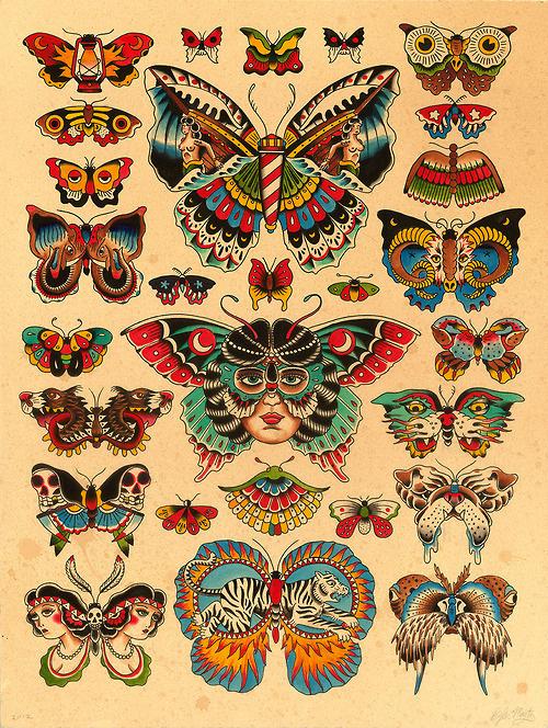 Lots of butterflies.Kyler Martz18 #butterfly #print #illustration
