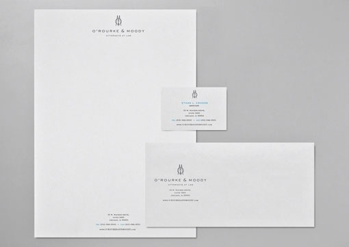 design work life » cataloging inspiration daily #white #business #card #clean #envelope #collateral #blue #letterhead #dark #grey