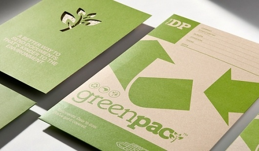 GREENPAC on the Behance Network #die #cut #environmental #greenpac #recycled #green