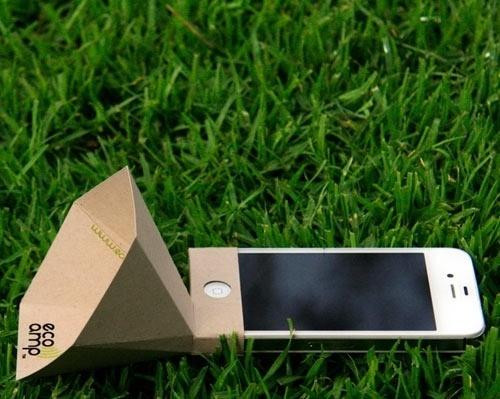 Eco-Amp-1.jpg 500×399 pixels #speaker #amp #amplify #iphone #sound #eco #paper