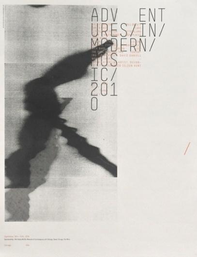 Adventures in Modern Music 2010 — Sonnenzimmer #print #poster #typography